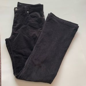 Calvin Kleins Dk Gray Flare Corduroy Jeans Size 8